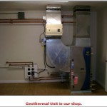 the Geothermal unit at our shop
